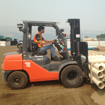 Experienced forklift operator